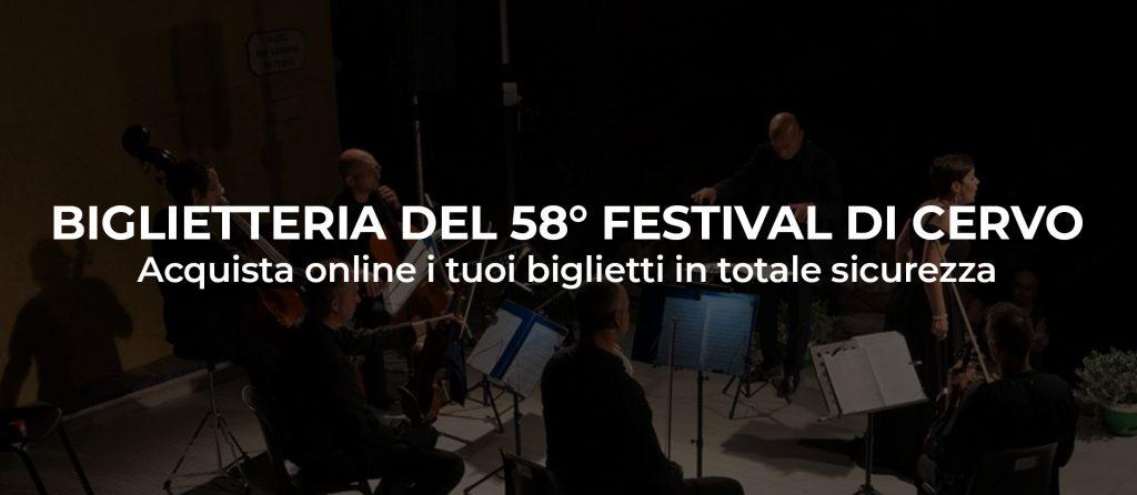 Biglietti 58° Festival di Cervo